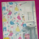 Disney Princess Cinderella Belle Aurora Shower Curtain Vinyl Bathroom Girls New