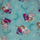 "Disney Frozen Elsa Anna Ice Skating Blue Fleece Baby Blanket Pet Lap 24"" x 30"""