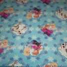 "Disney Frozen Elsa Anna Olaf Snowflake Blue Fleece Baby Blanket Pet Lap 24"" x 30"""