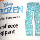 Disney Frozen Olaf Ladies Lounge Pants Sleepwear PJ's Blue New 2016  Size M 8/10