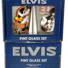 Elvis Presley Drinking Glasses Glass Set of 2 Las Vegas New