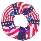 USA Flags Patriotic Fabric Hair Scrunchie Ties Scrunchies by Sherry