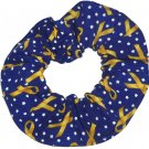 Support our Troops Yellow Ribbon Fabric Hair Scrunchie Scrunchies by Sherry