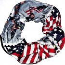 Heroes of 9/11 Postage Stamp Fire Fighter Fabric Hair Scrunchie Scrunchies by Sherry