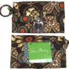 Vera Bradley Canyon Quick Swipe ID Wallet Key Ring New