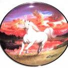 The Mystical Diamond Unicorn Collector Plate Franklin Mint