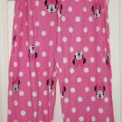 Disney Minnie Mouse Ladies Lounge Pants Sleepwear PJ's Pink New Size X-Large