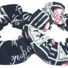 New York Yankees Fabric Hair Ties Scrunchie Scrunchies by Sherry Set of 2 MLB Baseball