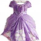 Disney Store Princess Sofia the First Costume Dress Fancy Size 5/6 Halloween New