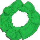 Green Knit Fabric Hair Ties Scrunchie Scrunchies by Sherry