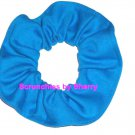 Turqoise Knit Fabric Hair Ties Scrunchie Scrunchies by Sherry