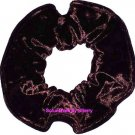 Brown Crushed Velvet Fabric Hair Scrunchie Ties Scrunchies by Sherry