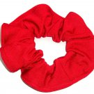 Red Spandex Hair Scrunchie Fabric Scrunchies by Sherry