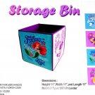 Disney Princess Storage Cube Belle Cinderella Ariel Rapunzel Theme Parks