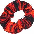Biker Orange Flames Hair Scrunchie Scrunchies by Sherry