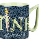 Disney Tinker Bell Coffee Cup Mug Ceramic It's All About Me Tink Theme Parks