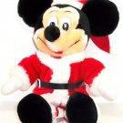 """Disney Mickey Mouse Christmas Plush Toy 15"""" Santa Claus Disneyland Theme Parks"""