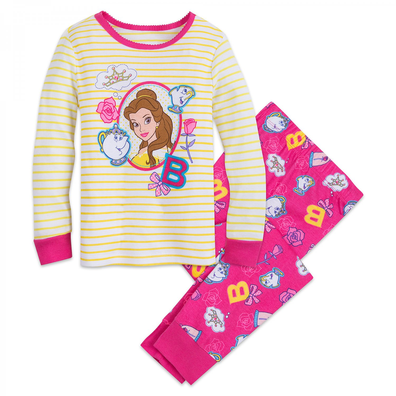 Disney Store Belle PJ Pals Sleep Set Pajamas Princess New 2018 Size 5