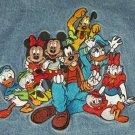 Disney Store Blue Jean Denim Jacket Ladies Mens Character Mickey Minnie Size S