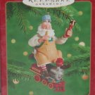 Hallmark Ornament Santa the Toymaker 2000 Riding a Train