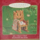 Hallmark Ornament Mrs Santa Claus's Chair Holiday 2001 Sewing