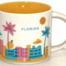 Starbucks Florida Coffee Mug Disney Space Mountain Palm Tree Flamingo Cup 2013