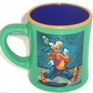 Disney Store Goofy Coffee Mug Blue Gold Green Tea Soup Hot Coca Cup