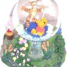 Disney Store Snowglobe Winnie Pooh Tigger  Eeyore Piglet Musical Retired