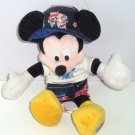 Disney Cruise Lines Mickey Mouse Plush Toy w/Tags Bean Bag Demin Hat 2004