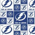 Tampa Bay Lightning Blue Fabric Hair Scrunchie Scrunchies by Sherry NHL Hockey