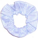 Blue White Tiny Gingham Fabric Hair Scrunchie Scrunchies