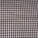 Brown White Small Gingham Fabric Hair Scrunchie Scrunchies