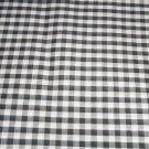 Black White Small Gingham Fabric Hair Scrunchie Scrunchies