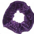Purple Hair Scrunchie Velvet Scrunchies by Sherry Ties