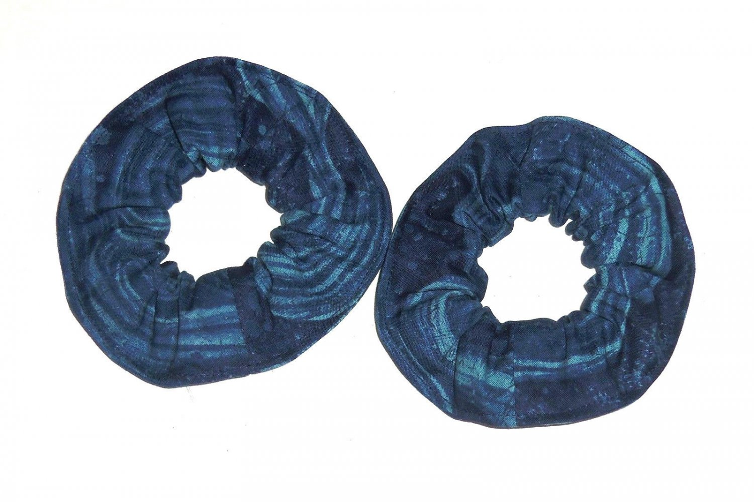 Coral Reef Ocean Blue Fabric Mini Hair ScrunchieTie Scrunchies by Sherry Lot of 2 New