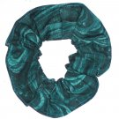 Coral Reef Ocean Green Fabric Hair ScrunchieTie Scrunchies by Sherry New