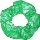 Green Hair Scrunchie Blenders Fabric Scrunchies by Sherry
