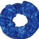 Blue Hair Scrunchie Blenders Fabric Scrunchies by Sherry