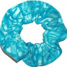Turquoise Hair Scrunchie Blenders Fabric Scrunchies by Sherry