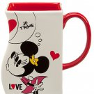 Disney Store Mickey and Minnie Mouse Interlocking Mug White Valentines Day New