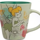 Disney Store Tinker Bell Coffee Mug Cup Roses Floral 2014 New