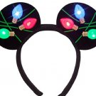 Disney Mickey Mouse Light Up Christmas Headband Ears Lights Theme Parks
