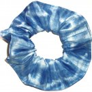 Blue Tie Dye Hair Scrunchie Fabric Scrunchies by Sherry