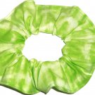 Lime Green Tie Dye Hair Scrunchie Fabric Scrunchies by Sherry
