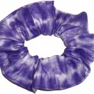 Purple Tie Dye Hair Scrunchie Fabric Scrunchies by Sherry