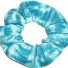 Turquoise Tie Dye Hair Scrunchie Fabric Scrunchies by Sherry