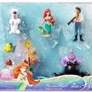 Disney Princess Ariel Mermaid Figure Set Flounder Ursula Max Eric Sebastian