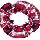 Arkansas Razorbacks Hogs College Fabric Hair Scrunchie Scrunchies by Sherry NCAA