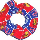 Kansas Jayhawks College Fabric Hair Scrunchie Scrunchies by Sherry NCAA