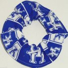 University of Kentucky Patchwork Fabric Hair Ties Scrunchie Scrunchies by Sherry NCAA